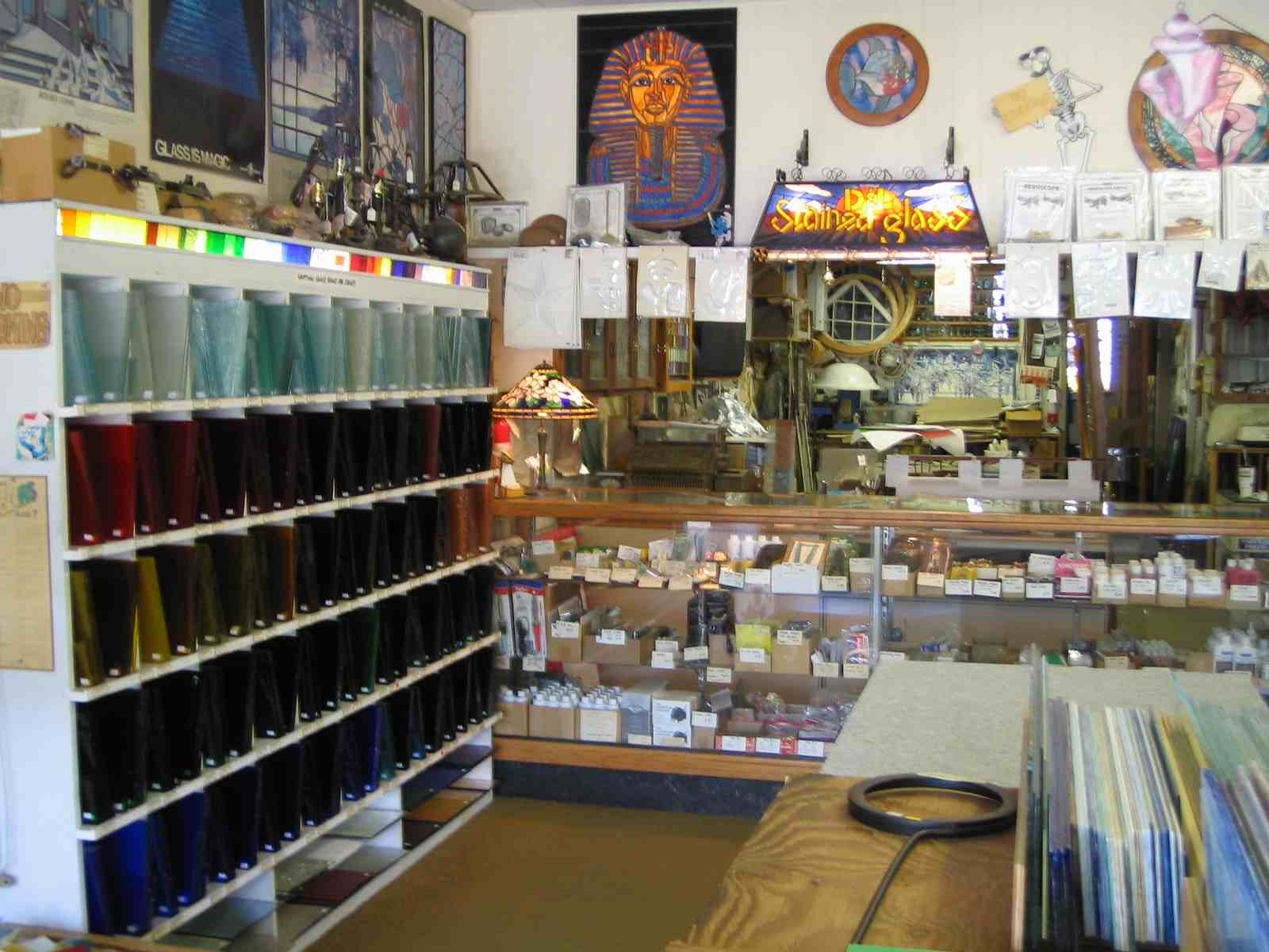 picture inside the stained glass store